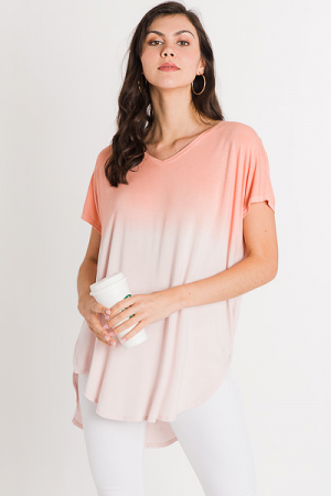 Peach Dyed Tunic