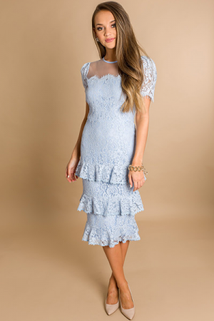 Timeless Beauty Dress, Blue