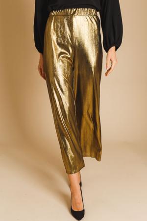 Liquid Gold Wide Leg Pants