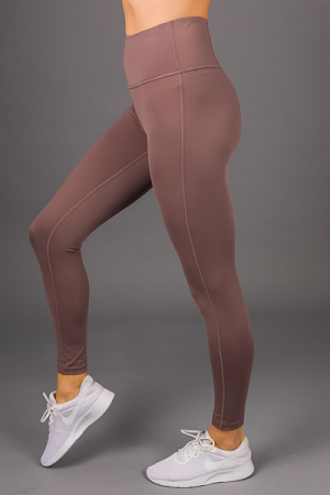High Waist Active Legging, Peppercorn