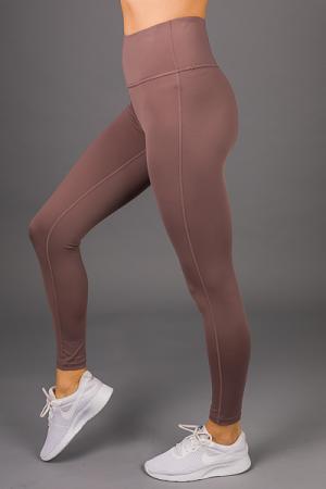 High Waist Active Legging, Peppercorn