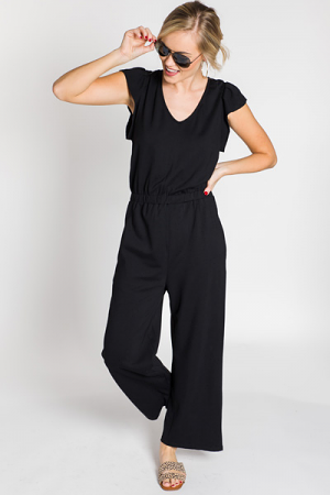 Wide Eyed Jumpsuit, Black