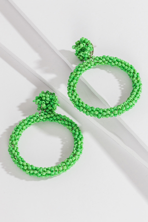The Green Ring Earring