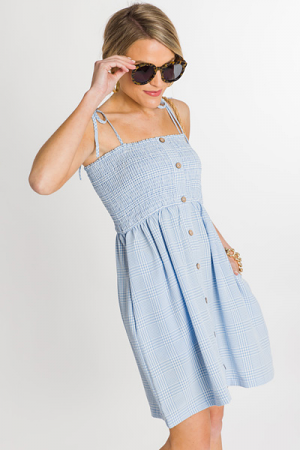 Park Picnic Dress, Blue