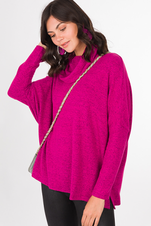 Soft Cowl Pullover, Magenta