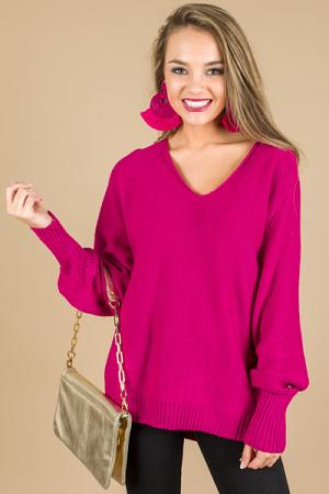 Go-To Sweater, Magenta