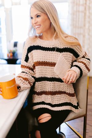 Coffee Contrast Sweater