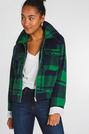 Green Plaid Jacket