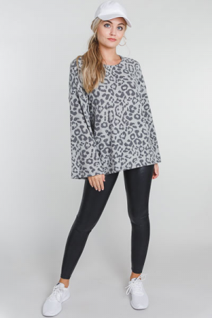 Muted Leopard Pullover