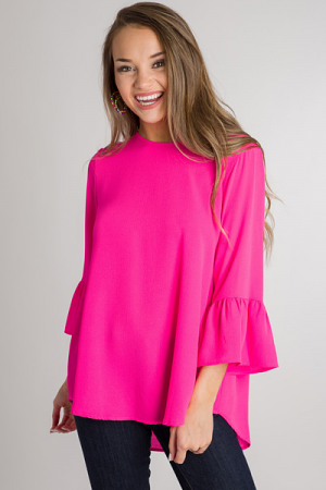 Bethany Tunic, Hot Pink