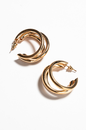 3 Split Hoops, Gold