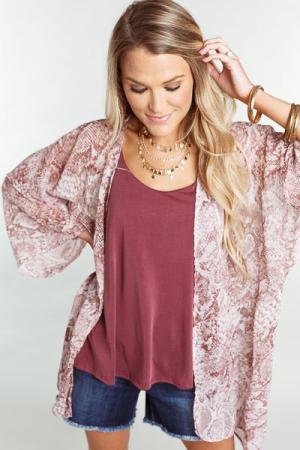 Pink Python Kimono