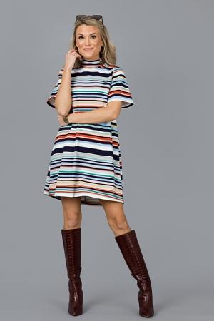 Stretchy Stripe Choker Dress