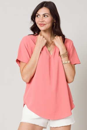Heidi Tunic Blouse, Dusty Pink