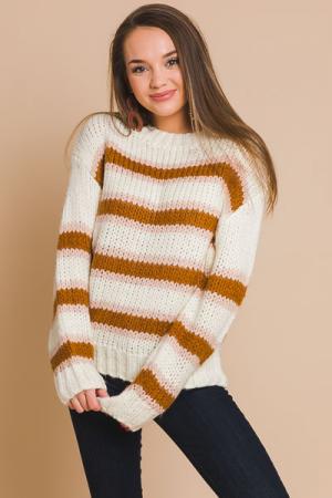 Creamy Stripes Sweater