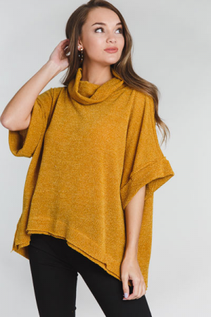 Cowl Sweater, Mustard