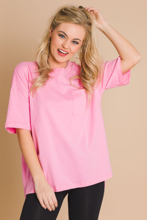 Chill Day Tunic, Pink