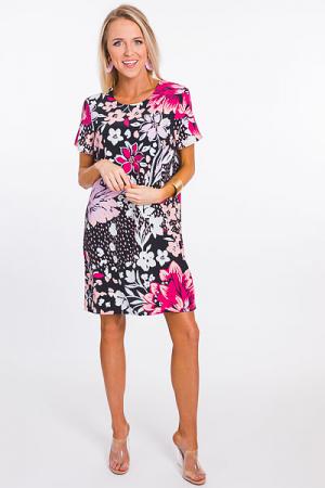 Pop Art Floral Shift Dress