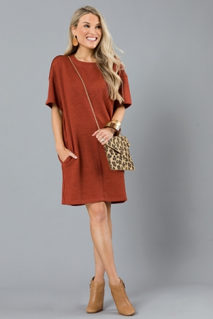 Harvest T-Shirt Dress, Camel