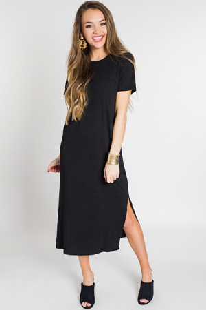 Grayson T-Shirt Dress, Black