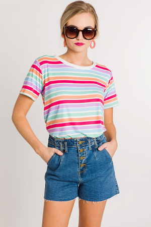 Candy Shop Striped Tee