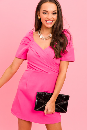 Jaw Dropper Dress, Pink