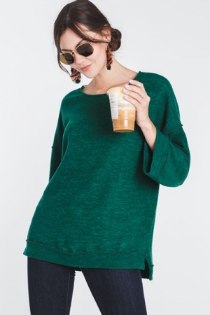 Square Sleeve Pullover, Green
