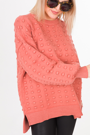 Raised Dots Sweater, Marsala
