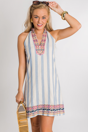 Triangle Stripe Dress
