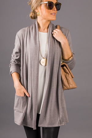 Best Of All Cardigan, Gray