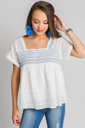 Sea Breeze Smock Top