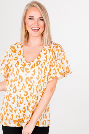 Golden Leopard Blouse