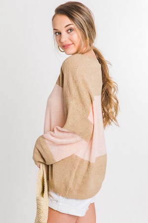 Simple Stripe Sweater, Camel