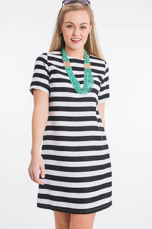 Classic Stripes Shift Dress
