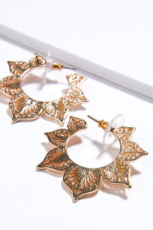 Fairy Leaf Hoops, Gold