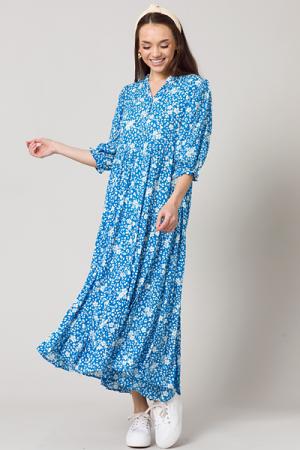 Karlie Floral Midi, Blue