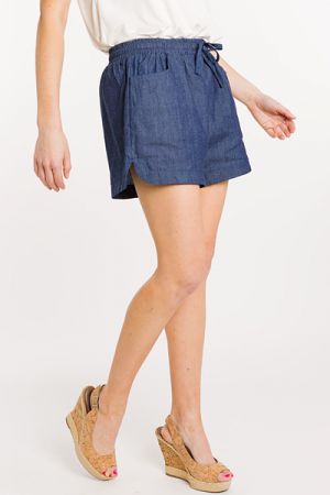 Dark Chambray Shorts
