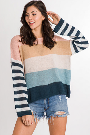 Spring Into Stripe Sweater