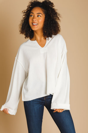 Chrissy Casual Cream Sweater