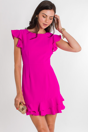 High Tea Dress, Magenta