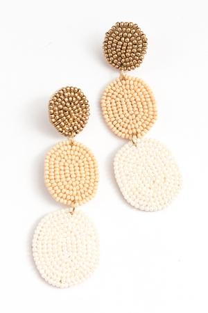Neopolitan Drop Earrings, Natural