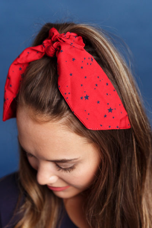 Star Spangled Banner Scrunchie