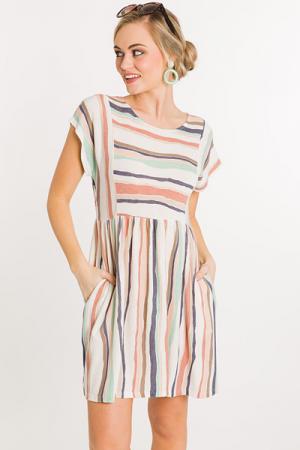 Seashell Stripe Dress