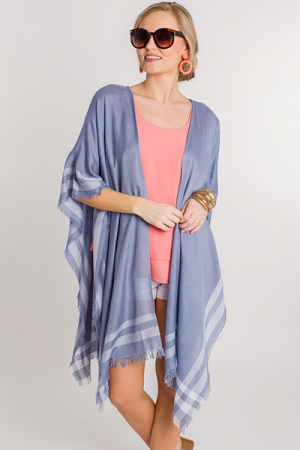 Molly Poncho, Blue
