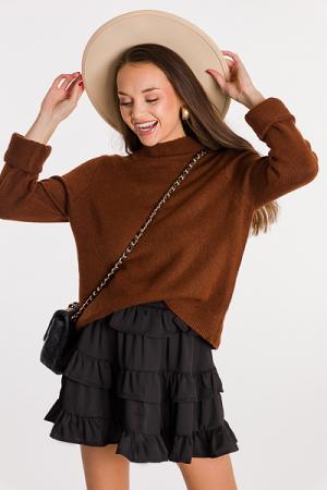 Dawn Solid Sweater, Hazelnut