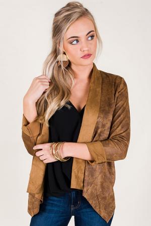 Adeline Suede Jacket, Camel