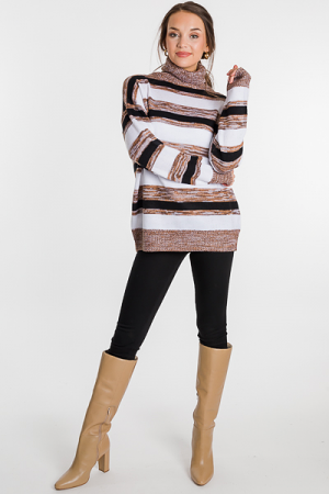 Coffee Stripes Sweater