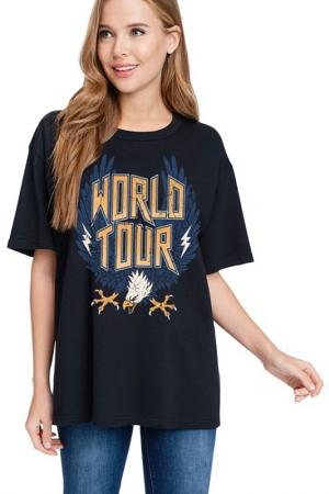 World Tour Tee, Black