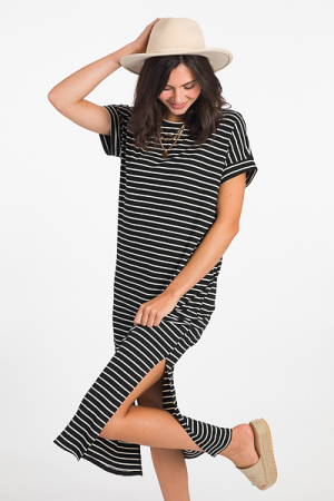Ribbed Right Stripe Maxi