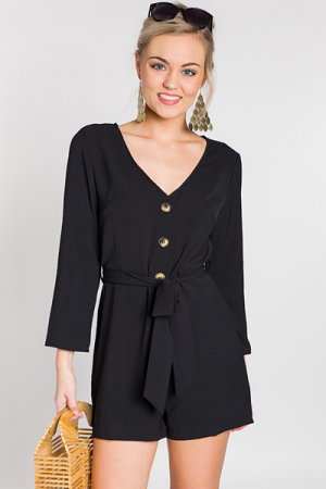 Buttoned Up Romper